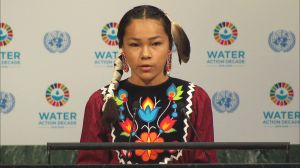 Canadian teenage water warrior addresses UN