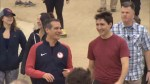 Justin Trudeau takes a hike with L.A. Mayor Eric Garcetti