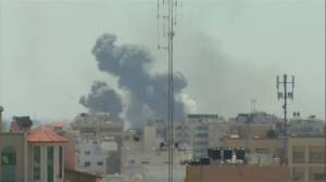 Explosions ripple across Gaza City skyline