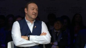Oscar winner Kevin Spacey takes jab at Donald Trump, talks politics in Davos