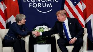 Trump and May tout strong U.S.-U.K. relations, remain quiet on details of state visit