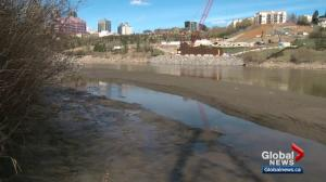 Accidental Beach appears on North Saskatchewan River again