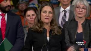Tariffs placed on U.S. goods leave Chrystia Freeland 'in sorrow'