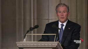 Bush says father was 'best of a thousand points of light'