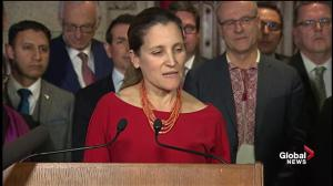 Freeland says Canada not immune from Russian efforts to de-stabilize nation's democracy