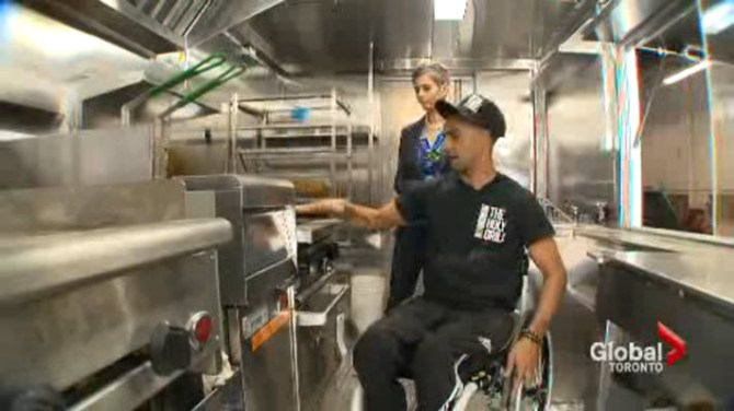 Chef breaks barriers with custom wheelchair-accessible food truck