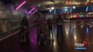 Airdrie girl's roller skating dreams come true at Lloyd's Roller Rink