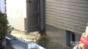 71,000 litres of water pumped out of basement following water line break