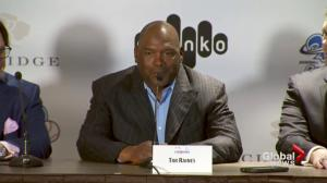 Tim Raines celebrates career, induction into hall of fame