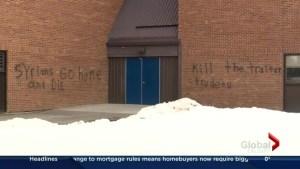 Vandals target Trudeau, Syrians in graffiti on Calgary school