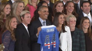 President Obama says U.S. women's soccer team redefined phrase 'playing like a girl'
