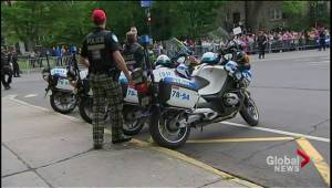 Police camo pants protest contoversy