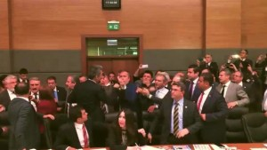 Caught on Camera: Violent brawl breaks out in Turkish parliament