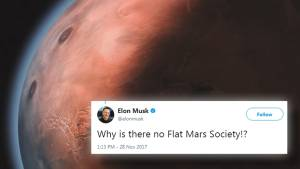 Elon Musk tweet leads Flat Earth Society to claim Mars is a sphere