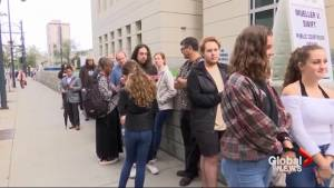 Hundreds of Taylor Swift fans gather outside courthouse as groping case continues