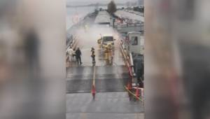 Vehicle fire delays Tsawwassen BC Ferries sailing