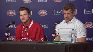 Shock, surreal feeling to be a Hab says hometown boy Drouin