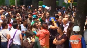 Office workers, residents evacuate buildings central Mexico hit by major earthquake
