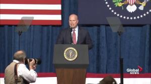 Matt Whitaker commends Trump over nominee for AG