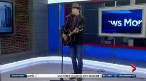 Juno award winner Barney Bentall performs a single from his new album