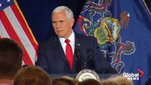 Pence condemns 'cowardly acts' after explosives mailed to CNN, Hilary Clinton, Barack Obama (00:57)