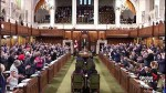 Question period begins with rare standing ovation from all parties in response to Trump attacks