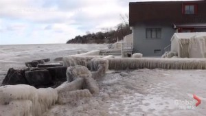 Five days of freezing winds create 'Ice House' on Lake Ontario shore
