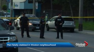 Stabbing leaves man dead near Lawrence and Weston