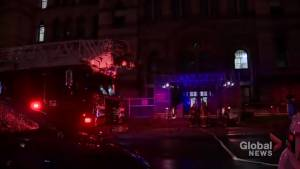 Fire at Toronto's Old City Hall causes significant amount of damage inside the building (01:41)