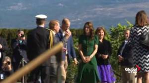 Prince William and Kate arrive at Mission Hill Family Estate Winery in B.C.