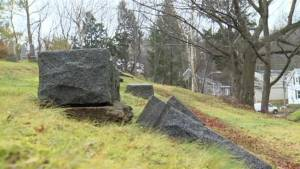 Vandals strike Nova Scotia cemetery third time in 2 months (01:52)