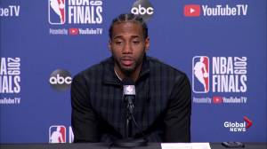 Kawhi Leonard laments poor 3rd quarter in Game 2 loss to Warriors (00:33)