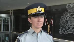 RCMP speak to Global News about the arrest of Steven Skinner
