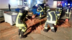 German factory leak paves street with chocolate