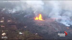 Kilauea volcano shoots lava 200 feet into the air