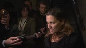 Freeland condemns Russian seizure of Ukrainian ships