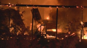 Two large fires burn in Pitt Meadows