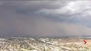 Helicopter footage captures veritable wall of dust moving across Phoenix, AZ