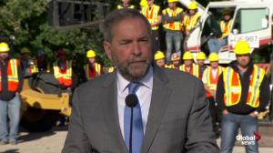 """Where there's a will, there's a way"": Mulcair on 10,000 refugees by end of 2015"