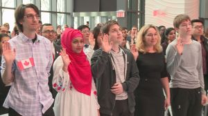 Citizenship ceremony for 60 new Canadians hosted at Corus Quay