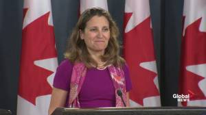 Chrystia Freeland responds to Trump's criticism of Canada in NAFTA
