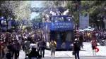 Golden State Warriors celebrate championship