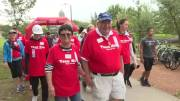 """Play video: Show of solidarity and love, more than 150 people come together to form """"Team Mark"""" at Winnipeg Terry Fox Run"""