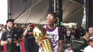 Raptors assistant coach brings NBA championship trophy to Vancouver