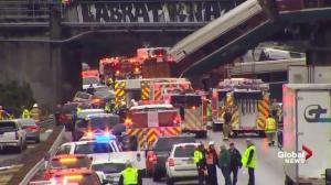 Massive emergency response for Amtrak train derailment