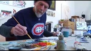 Peterborough artist John Climenhage captures hockey's speed and grit on canvas