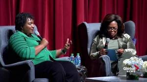 Stacey Abrams says she was invited by Jewish leaders to 'join their mourning'