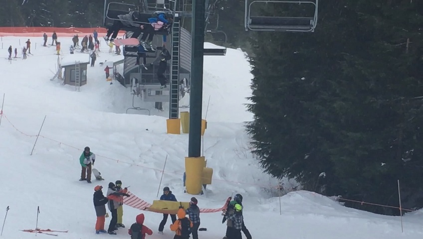 Teens rescue eight-year-old boy dangling from ski lift
