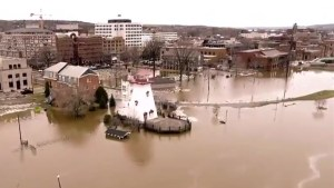 St. John River's high waters flood Fredericton's downtown