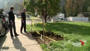 Contractors dig up confusion outside Abbotsford home